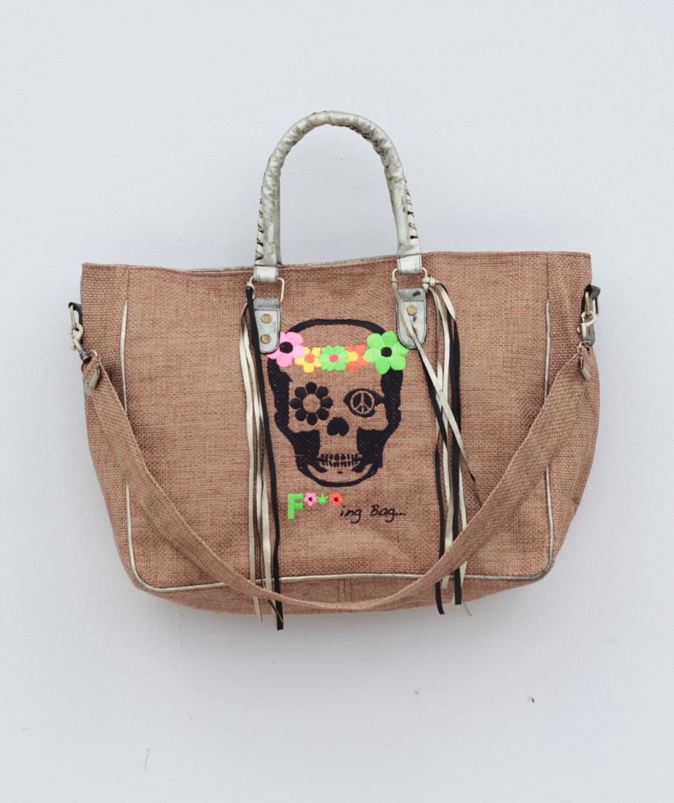 Cabas St Barth Skull
