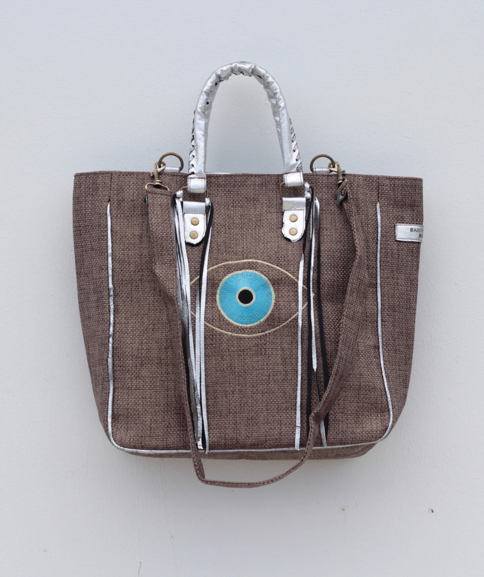 Cabas St Barth Evil Eye Chic Taupe
