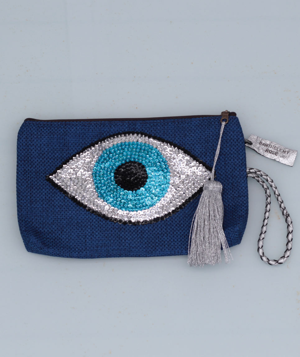 Clutch Evil Eye Blue