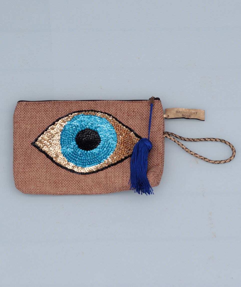 Pochette Evil Eye Naturel
