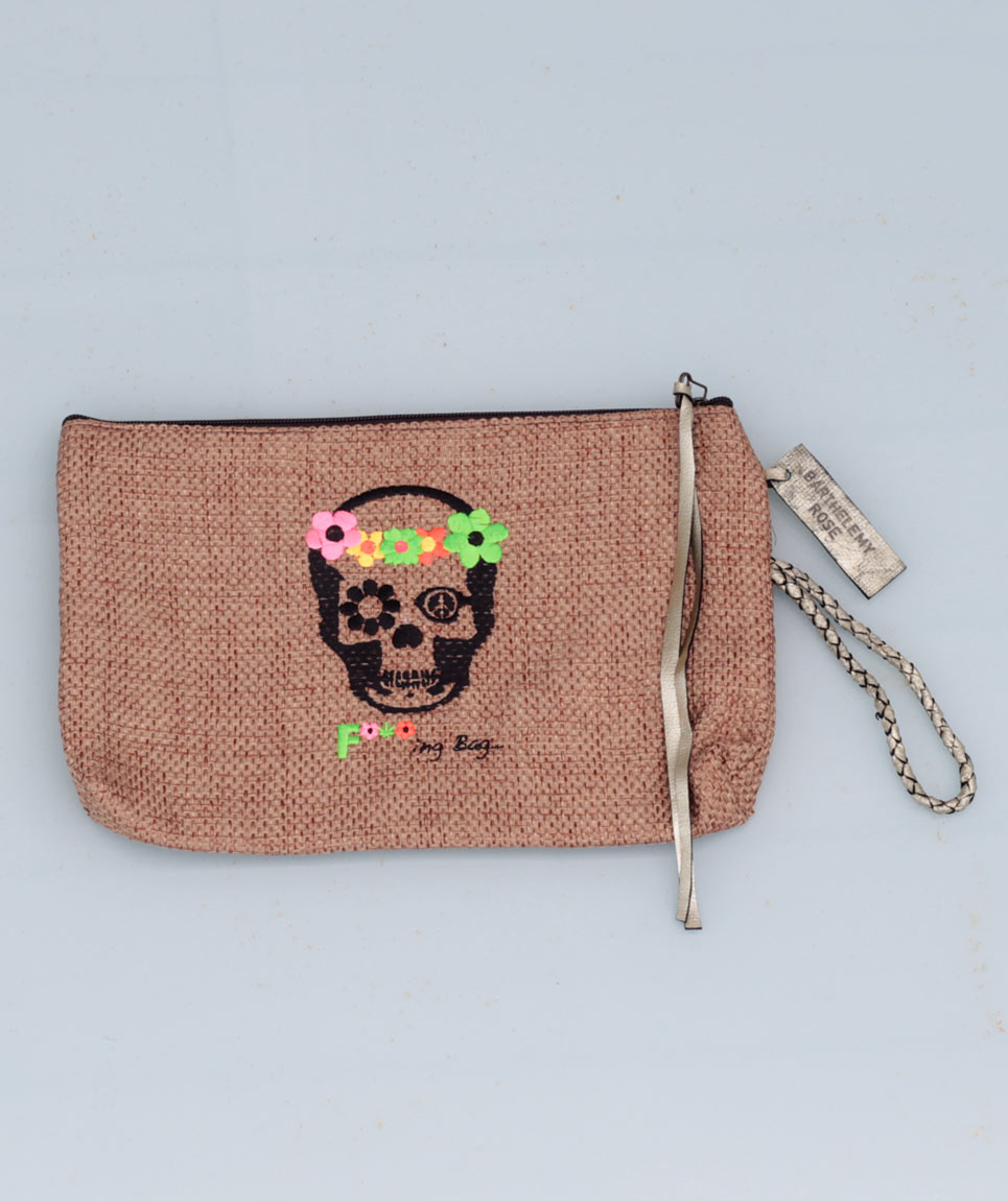 Clutch St Barth Skull