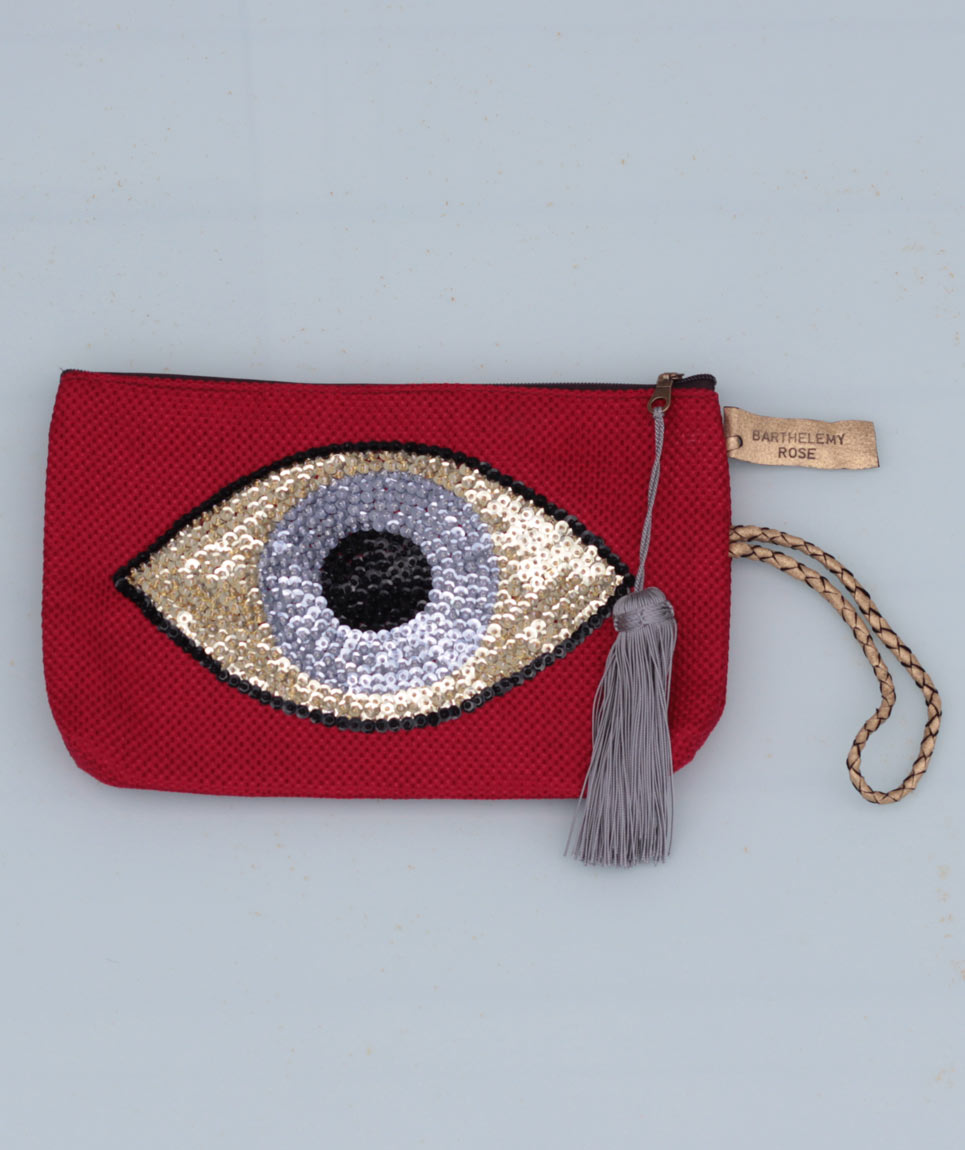 Pochette Evil Eye Rouge